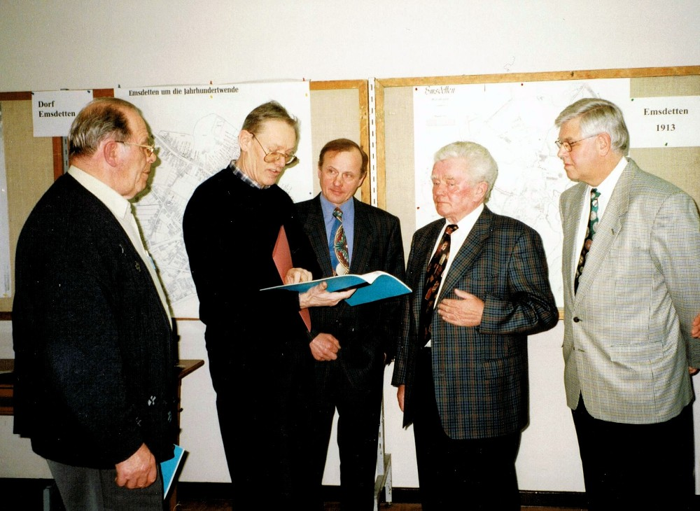 v.l. Karl Finke †, Gerd Udo Scheideler †, Ludger Lehmkuhl,  Helmut Brömmelhaus †, Rudi Kattenbeck